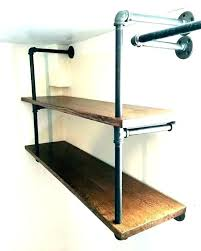 corner pipe shelves picture of showcase black industrial shelf like this item indus