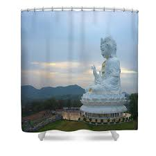 Guanyin in Chiang Rai Shower Curtain for Sale by Ivan Franklin