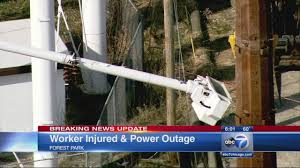 forest park news com worker injured in forest park power line accident