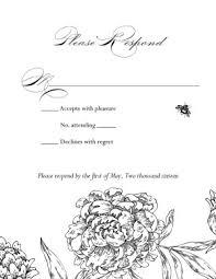 Response Cards For Weddings Printable Formal Wedding Response Card Template