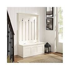 Wood Hall Tree Coat Rack Entryway Bench Wood Hall Tree Coat Rack Storage Entryway Bench Organizer White 93