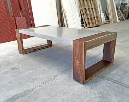 coffee table furniture. Polished Contemporary Concrete Coffee Table Furniture