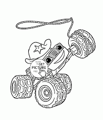 Blaze Monster Truck Starla Coloring Page For Kids Transportation
