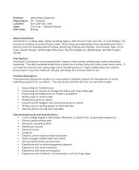 Copywriter Job Description Best Copy Resume Examples Of Sample Related Post Junior Copywriter