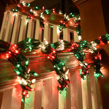 Garland With Red And White Lights Garland String Lights Red Green White Lights Green Wire 18 Ft