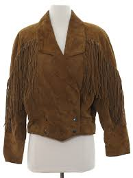 1980 s retro leather jacket 80s yearbook womens brown background suede leather plain sleeve cuffs dolman longsleeve double ted snap front