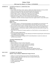 Administration Resume Examples Vendor Administrator Resume Samples Velvet Jobs 11