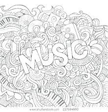 Coloring Pages Music Music Coloring Worksheets Colouring Pages To