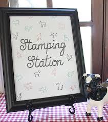 Baby Shower Stamping Station: DIY Onesies & Burp Cloths