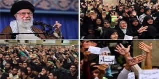 Image result for رهبر انقلاب در جمع پرشور دانشآموزان و دانشجویان تاکید کردند