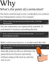 When Do I Use A Comma How To Use A Semicolon The Oatmeal