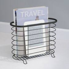 Newspaper rack for office Spinning Metal Newspaper Magazine Holder Rack Storage For Office Bathroom Black Matte Watchtvseriesinfo Mdesign Newspaper And Magazine Rack For Bathroom Office Entryway