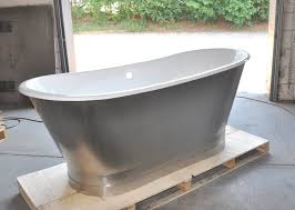 67 cast iron double ended stainless steel slipper pedestal tub