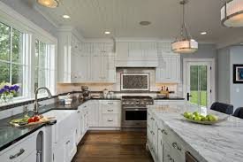 Wonderful Painting Cherry Kitchen Cabinets White With Throughout Inspiration