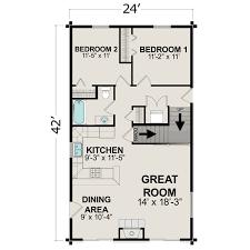 cabin plans under 1500 sq ft