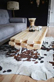 homemade coffee tables with wooden tops