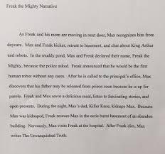 freak the mighty novel study quizzes sentence writing freak the mighty quizzes request