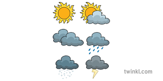 Coloring pages to download and print. Weather Forecast Symbols The Weather Station Aistear Colouring Pages