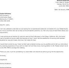 Teaching Position Cover Letter Cover Letter For Applying Teacher Job
