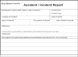 Investigation Form Template Investigation Form Template Incident
