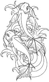 Small Picture Koi Fish Coloring Pages Coloring Pages