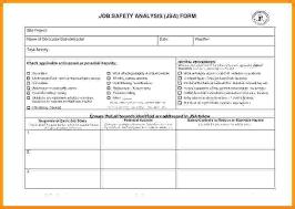 Job Hazard Analysis Worksheet Job Safety Analysis Form Template New Workplace Hazard Assessment