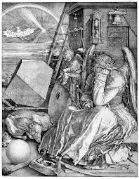 historical artwork by the german artist albrecht durer titled melencolia i it represents one of the four temperaments