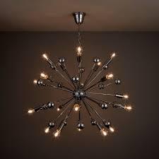 sputnik style comet spherule ceiling light chrome effect rrp 132 in b q now