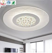 Ultra Thin Circular Ceiling Dome Light Led Crystal Lamp Simple Modern Atmospheric Flower Type With Remote Living Room Lamp In Ceiling Lights From