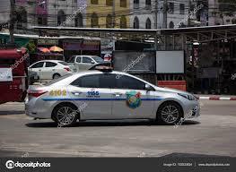Police Car of Tourist Police.Toyota Corolla Altis. – Stock ...