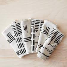 holiday cloth napkins. Wonderful Holiday Echelle Mud Cloth Napkins  Set Of 6 With Holiday A