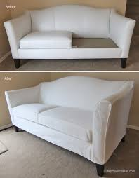 leather couch slipcovers. Unique Couch WHite Denim Slipcover For Ethan Allen Hartwell Sofa On Leather Couch Slipcovers T