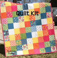 Best Day Ever Patchwork Baby Quilt Kit, Simple Quick Easy | Quilt ... & Best Day Ever Patchwork Baby Quilt Kit, Simple Quick Easy Adamdwight.com