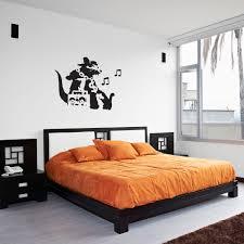Banksy Rat Hip Hop Head Vinyl Wall Art Decal For Home Decor - Hip hop bedroom furniture