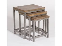 Nesting furniture Wicker Gramercy Industrial Style Nesting End Tables By Alder Tweed Furniture Mart Colorado Alder Tweed Gramercy Industrial Style Nesting End Tables