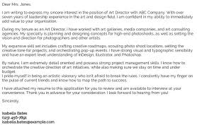 Director Cover Letter Art Director Cover Letter Examples Samples Templates