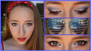 cute red white and blue makeup top 10 fabulous 4th july makeup tutorials