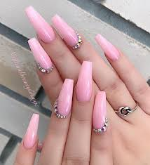 Light Pink Nails With Rhinestones 32 Super Cool Pink Nail Designs That Every Girl Will Love