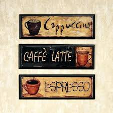 coffee wall decor popular themed kitchen metal art theme cafe latte with 23
