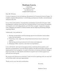 Cover Letter Examples For Receptionist Cv Resume Ideas