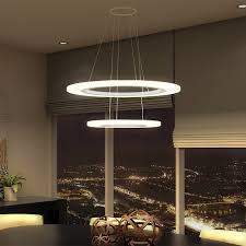 tania duo vmc32300al modern two tier circular led chandelier