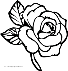 Free printable coloring pages for kids! Pretty Rose Color Page Flower Coloring Pages Rose Coloring Pages Printable Flower Coloring Pages