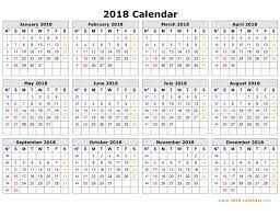 calendar january 2018 template printable 2018 calendar