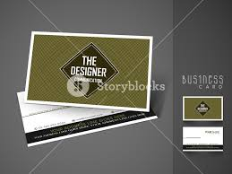 Creative Business Or Visiting Card Design With Front And Back Side