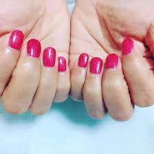ピンク紫 Lala所属tanimoto未来のネイルデザインミニモ
