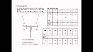 mens to womens size chart size chart denim pants for mens womens youtube