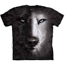 wolf face black and white. Wonderful White The Mountain Kids Wolf Face TShirt Small Black Inside And White