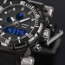mens tactical watch infantry mens digital quartz wrist watch sport chronograph alarm army tactical