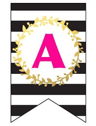 Free Printable Happy Birthday Banner And Alphabet Six
