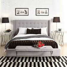Best 25+ Grey upholstered headboards ideas on Pinterest | Grey ... & Inspire Q Marion Grey Linen Nailhead Wingback Tufted Upholstered Bed (690  CAD) ❤ liked Adamdwight.com